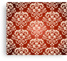 Decorativ floral ornament Canvas Print