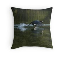 Flightless flight Throw Pillow