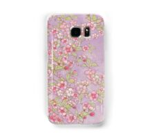 Watercolor Cherry Blossoms on Lavender Pink Wash Samsung Galaxy Case/Skin