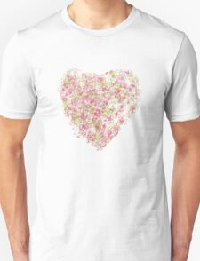 Watercolor Cherry Blossoms on Lavender Pink Wash T-Shirt