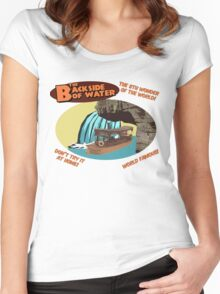 The Backside of Water! Women's Fitted Scoop T-Shirt