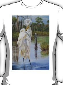 Bayou Coco Point Egret T-Shirt
