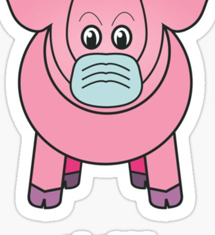 "Bobby the pig says: ""oh shit!"" Sticker"