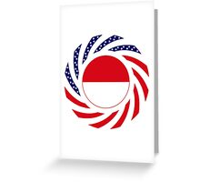 Monacan American Multinational Patriot Flag Series Greeting Card