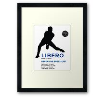 DEFENSIVE SPECIALIST Framed Print