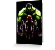MARVEL - Black Widow and Hulk Romance Greeting Card