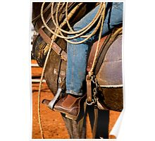 Saddle and Ropes - Marla, South Australia Poster