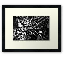 Eiffel Tower structure Framed Print