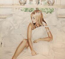 Airbrush Portrait - Louise Redknapp by Janne Flinck