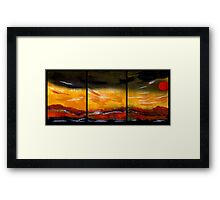 Mountain Fire - Black Saturday Framed Print
