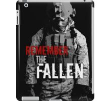 Remember the Fallen (RED) iPad Case/Skin