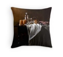 Disposable Life Fruit and Ham Throw Pillow