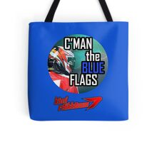 Kimi Raikkonen - Blue Flags Tote Bag
