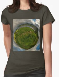 Teelin Bay from Roxborough fort, S. Donegal Womens Fitted T-Shirt
