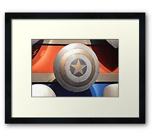 Disney Captain America Sheild Marvel Disney Comic Book Framed Print
