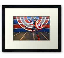 Disney Captain America Marvel Disney Comic Book Framed Print