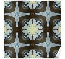 Fringed Petals on Pale Blue Pattern Poster