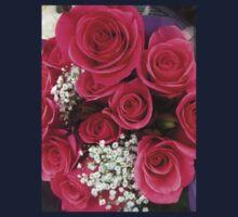 Pink Rose Bouquet Kids Tee