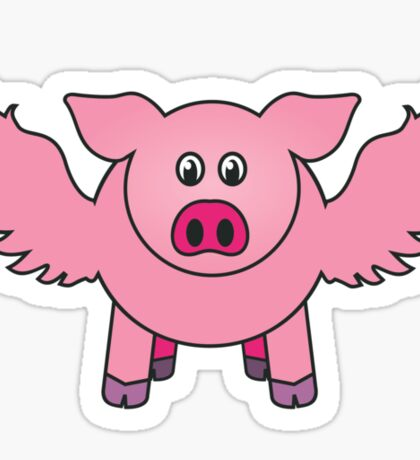 "Bobby the pig says: ""every cloud..."" Sticker"