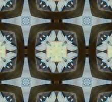Fringed Petals on Pale Blue Pattern by Ladydi