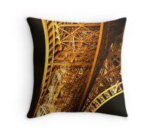 Eiffel Tower leg Throw Pillow