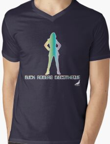 Buck Rogers Discotheque Mens V-Neck T-Shirt