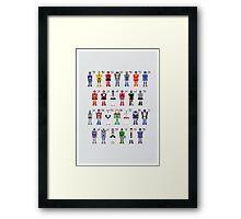 Transformers Alphabet Framed Print