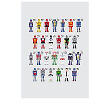 Transformers Alphabet Photographic Print