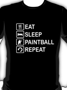Eat Sleep Paintball Repeat Funny Shirt T-Shirt