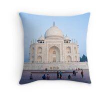 Taj Mahal at dusk Throw Pillow