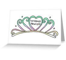 internet princess Greeting Card