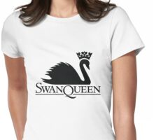 Swan Queen Black Womens Fitted T-Shirt