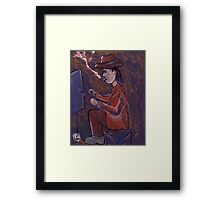 The One Armed Aritist Framed Print
