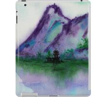 Fishing at Dawn - Chinese Landscape Sumi-e iPad Case/Skin