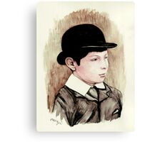 Churchill the schoolboy Canvas Print