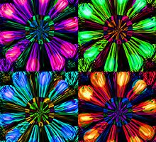 Neon Floral Tile by Orla Cahill
