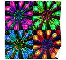 Neon Floral Tile Poster