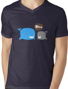 WHALES Mens V-Neck T-Shirt