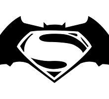 Batman v. Superman by averagejoeart