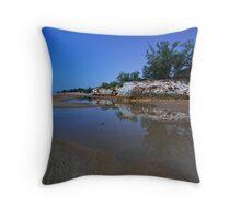 Moonlit Dripstone Throw Pillow
