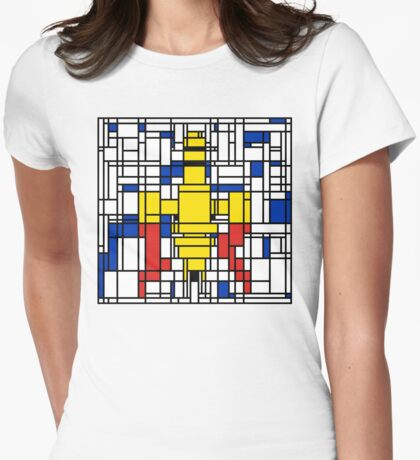 Serenity Squared Womens Fitted T-Shirt