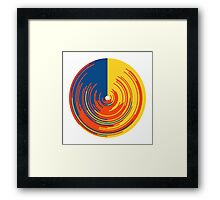 Circle data doughnut Framed Print