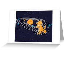 Cat Space Greeting Card