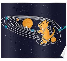 Cat Space Poster