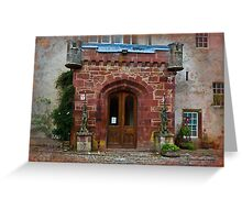 Delgatie Castle from the Back (near Turriff, in Aberdeenshire, Scotland) Greeting Card