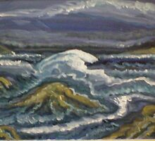 wild n frothy sea by madvlad