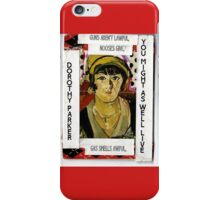 "Dorothy Parker-""Resume""(You Might As Well Live) iPhone Case/Skin"