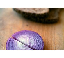 Red Onion Rye Bread Photographic Print