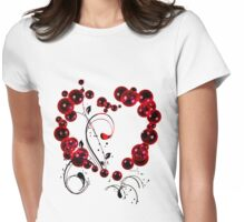 Red Love T Shirt Womens Fitted T-Shirt