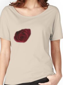 Dark Rose on right breast T-Shirt Women's Relaxed Fit T-Shirt